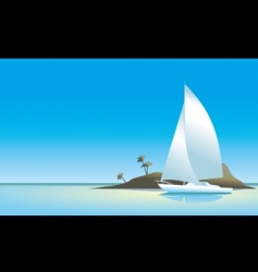 island wallpaper vector image