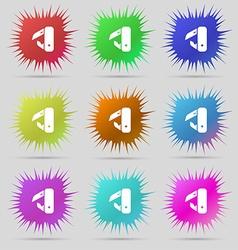 knife picnic icon sign A set of nine original vector image