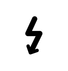 lightning modern icon vector image