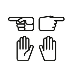 linear hand gesture icon vector image