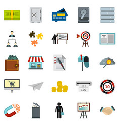 Locker icons set cartoon style vector
