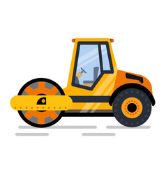 Machine used for construction roads repairing vector