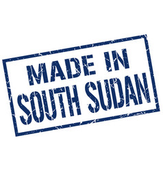 made in south sudan stamp vector image