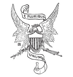 National motto of the united states vector