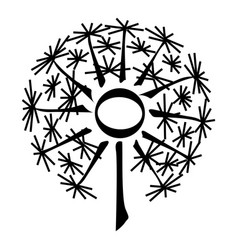 nature dandelion icon simple style vector image