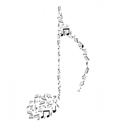note design by musical notes vector image