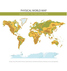 Physical world map elements build your own vector
