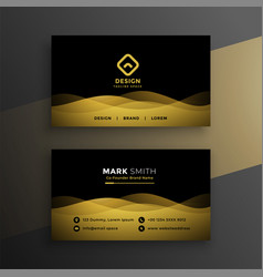 Premium dark business card design vector