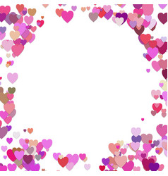 random heart background design - valentines day vector image