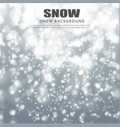 realistic falling snowflakes christmas snow vector image