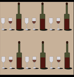 Red wine pattern vector