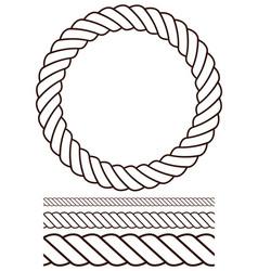 rope set contour version vector image