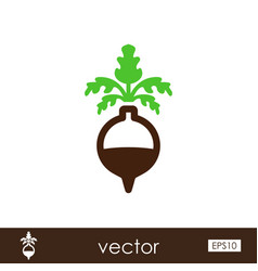 rutabaga or swede outline icon vegetable root vector image
