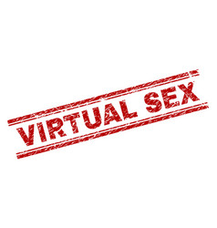 scratched textured virtual sex stamp seal vector image