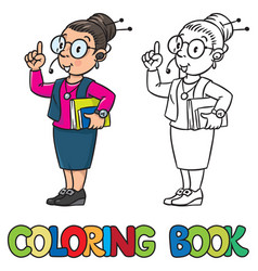 Secretary or receptionist woman coloring book vector