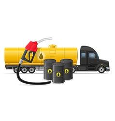 semi truck trailer concept 05 vector image