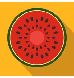Sliced watermelon flat icon vector