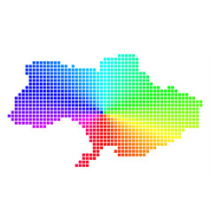 Spectral dotted ukraine map vector