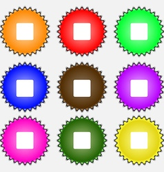 stop button icon sign A set of nine different vector image