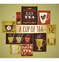 Tea collection vector
