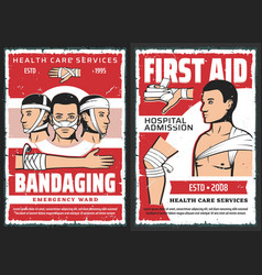 Traumatology first aid medical service center vector