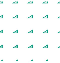 Triangle ruler icon pattern seamless white vector