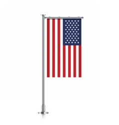 USA flag hanging on a pole vector