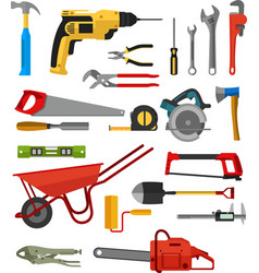 various tool for builder and maintenance vector image