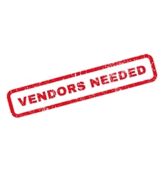 Vendors Needed Rubber Stamp vector