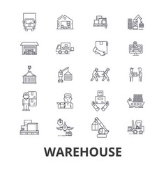 warehouse building logistics delivery storage vector image