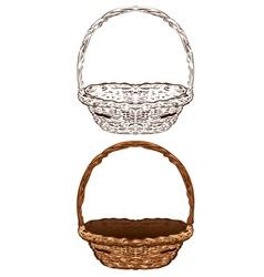 Wicker Basket6 vector image