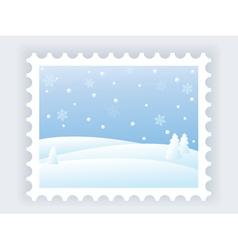 winter mark vector image