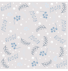 winter seamless pattern with snowflakes and vector image