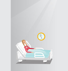 Woman with a neck injury vector