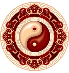 yang symbol rosette vector image