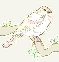 bird sketch vector image vector image