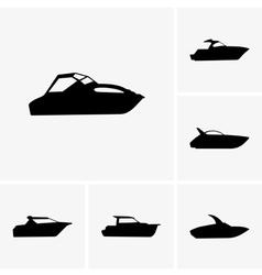 Cutter boat vector