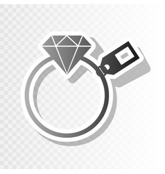 diamond sign with tag new year blackish vector image vector image