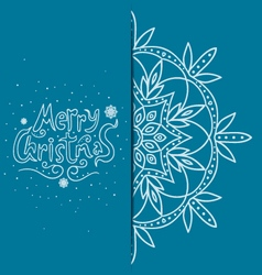Greeting card with snowflakes vector image vector image