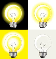 ideas light bulb vector image
