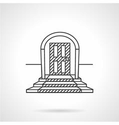 Line icon entrance door vector image vector image