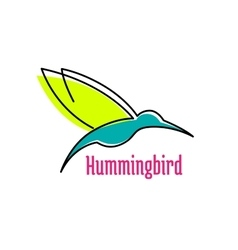 Little hummingbird bird abstract icon vector image vector image