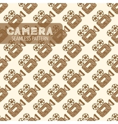 old video camera vector image vector image