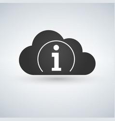 cloud computing icon information icon sign vector image