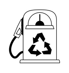 gas pump recycling related icon image vector image vector image