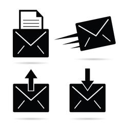 letter envelope black and white vector image vector image