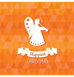 Paper Angel - Christmas Background vector image vector image