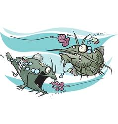 zombie catfish vector image vector image
