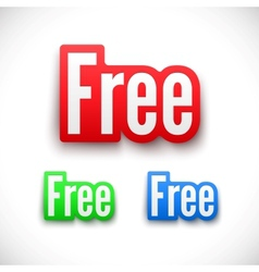 3d free stickers set vector