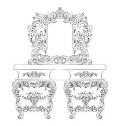 Baroque Dressing Table vector image vector image